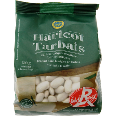 Haricot Tarbais sec, LABEL ROUGE, IGP, 500g
