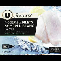 Coeur de filet de merlu blanc du cap Saveurs U, 440g