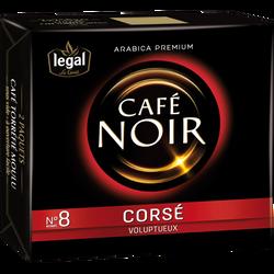 Café moulu corsé noir LEGAL, 2x250g