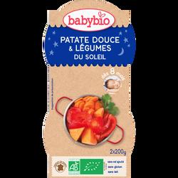 Bol patate douce et légumes soleil BABYBIO, dès 8 mois, 2x200g