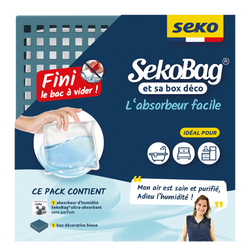 Sachet absorbeur SEKOBAG 150g+box, bleu