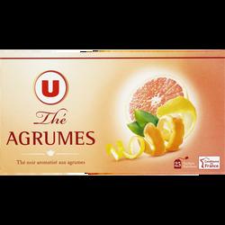 Thé noir aromatisé aux agrumes U, 25 sachets, 50g
