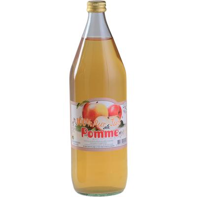 Pur Jus de pomme de L'Orléannais POIRE D'OLIVET, bouteille en verre de1l