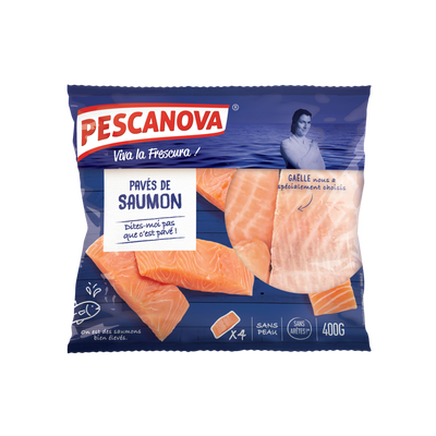 Pavés de saumon Atlantique sans peau crus PESCANOVA 400g