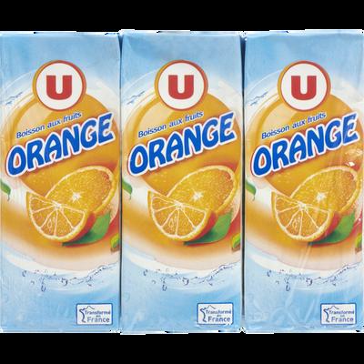 Boisson aux fruits non gazeuse à base de jus concentrés saveur Orange6x20cl