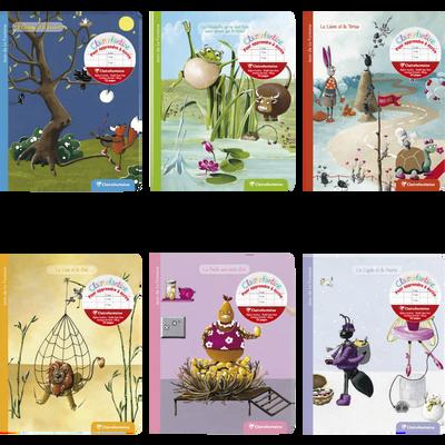Cahier Maternelle CLAIREFONTAINE, avec stickers Fable de la Fontaine,17x22cm, 32 pages, coloris assortis