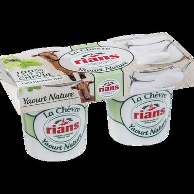 Yaourt nature au lait de chèvre RIANS, 2x120g