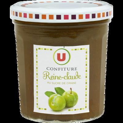 Confiture de reine Claude 50% de fruits U, pot de 370g
