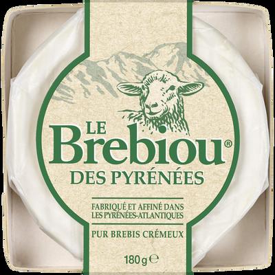 Fromage au lait de brebis pasteurisé 27% de matière grasse LE BREBIOU,80g