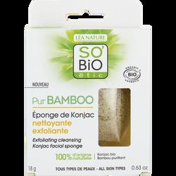 Eponge Konjac bambou detox