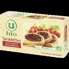 Tartelette fruits rouges et farine épéautre U BIO, paquet de 125g