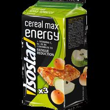 Barres de céréales max à la pomme et abricot, ISOSTAR, 165g