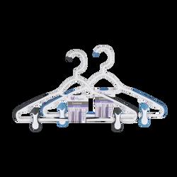 Cintre combiné anti-glissant bi-matière à clips réglables et crochettournant, U MAISON
