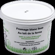 Fromage blanc lisse 8% de MG, Douceur Angevine, 500g