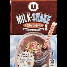 Nora Milk Shake Chocolat U, 8 Sticks, 224g
