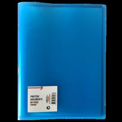 Protège document 60 vues, format A4, bleu