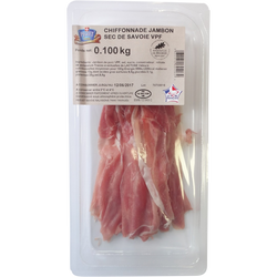 Chiffonnade de jambon sec de Savoie PEGUET 100g