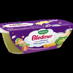 Blediner douceur d'artichaut petits légumes riz dès 8 mois BLEDINA, bol 2x200g