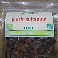 raisin sultanine bio 250g