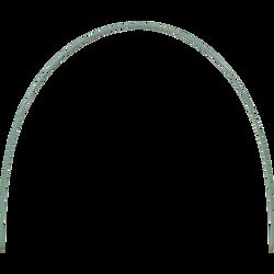 Arceau pour tunnel U, 2,5m, vert