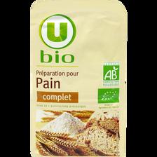 Préparation pour pain complet U BIO, paquet de 1kg