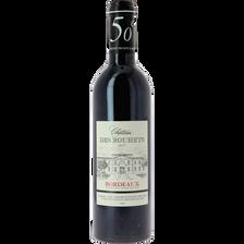 """Vin rouge AOP Bordeaux """"Château des Bouhets"""", bouteille de 50cl"""