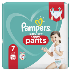 Couches baby dry pants PAMPERS géant taille 7 x30