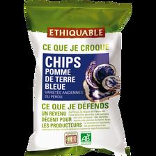 Chips pomme de terre bleue Pérou Bio ETHIQUABLE, 100g