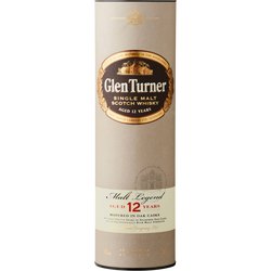 Scotch whisky GLEN TURNER, 12 ans d'âge , 40°, sous canister, bouteille de 70cl