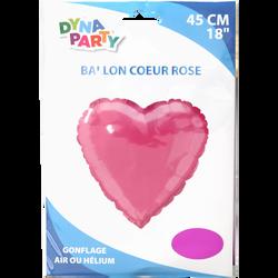 Ballon coeur, 45cm, rose