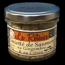 Émiettés de saumon au gingembre et au citron LA RETAISE, 90g