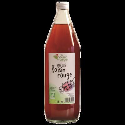 Jus de raisin rouge bio LA SOURCE DU VERGE, bouteille 1l