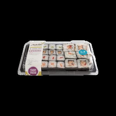 Sushi katsushika, transformé en France, 18 pièces, barquette, 360g