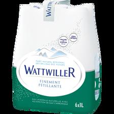 Eau minérale naturelle Finement Pétillante WATTWILLER, 6x1l