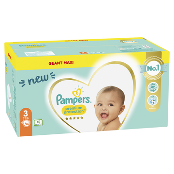 Pampers Couches Premium Protection Langes Geant Maxi Pampers T3 X96