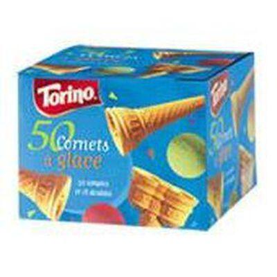 50 cornets à glace TORINO boîte 185g