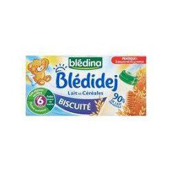 Briques de céréales au lait saveur biscuité BLEDIDEJ, dès 6 mois, 2x250ml