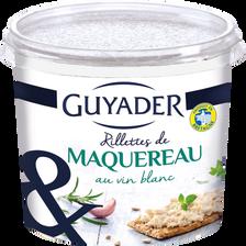 Rillettes de maquereaux au sel de Guérande GUYADER, pot de 150g