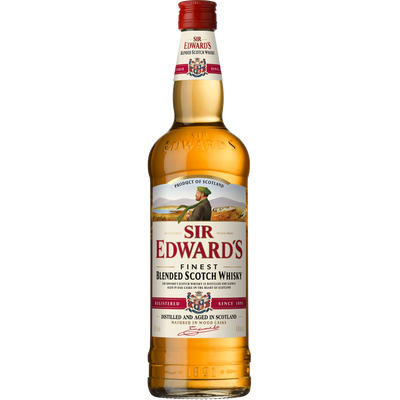 Scotch whisky Blended SIR EDWARD'S, 40°, bouteille de 1 litre