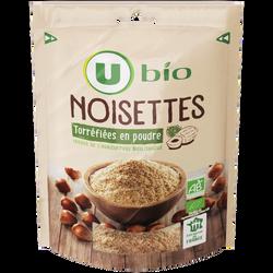 Noisettes torréïfiées en poudre Bio U, 100g