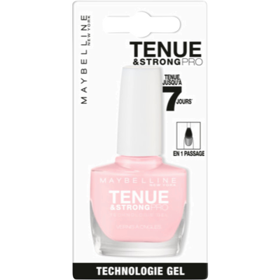 Vernis à ongles tenue & strong pro 135 nude rose MAYBELLINE, sous blister