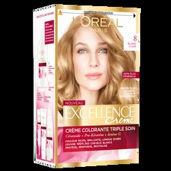 Crème coloration blond clair EXCELLENCE 8