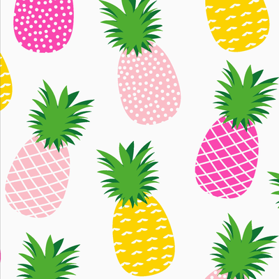 Serviettes, 3 plis, ananas pink, 25x25cm, 20 unités