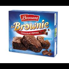 Brownie familial aux pépites de chocolat BROSSARD, paquet de 285g