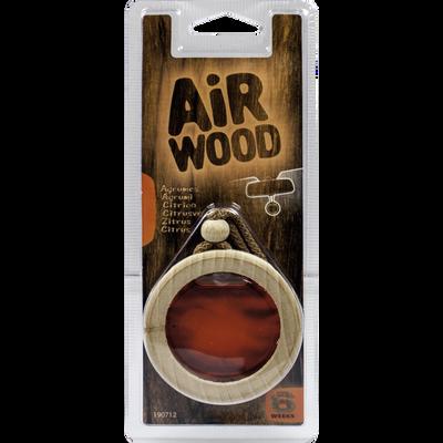 Suspension pour rétroviseur médaillon bois parfum agrumes