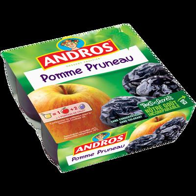 Dessert fruitier pomme pruneaux ANDROS, 4x100g