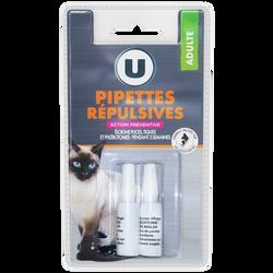 Pipettes répulsives pour chat U, x2