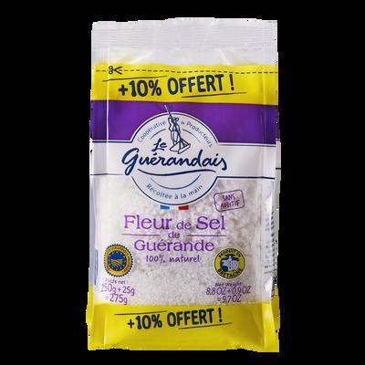 Fleur de sel tradition LE GUERANDAIS, sachet de 250g + 10% offert