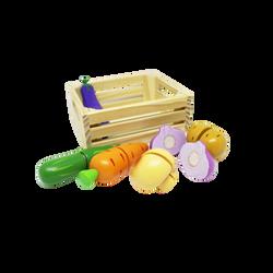 Légumes 12 pièces en cagette de bois