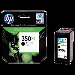 Cartouche d'encre HP pour imprimante, CB336EE noir n°350XL, sous blister